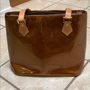 Louis Vuitton Vernis Bronze Houston Shoulder Bag